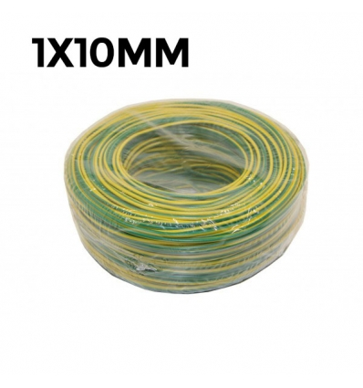 CABLE FLEXIBLE 750V 1X10MM CU TIERRA (100g/mt)